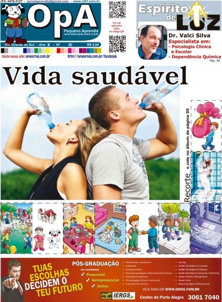 Capa do jornal O Pequeno Aprendiz Edição Especial 8E de Julho de 2013